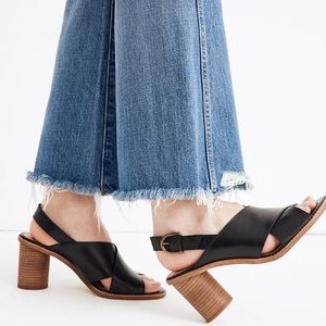 🌲Madewell Ruthie Crisscross Sandal Heels Leather